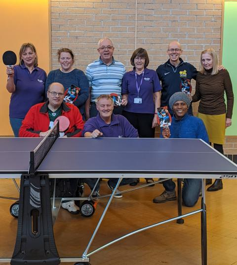 Bradford stroke group enjoys table tennis as they rebuild lives after stroke