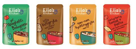 Ella's Kitchen lanserar 100 % ekologiska maträtter för barn från 8 månader
