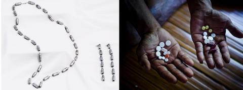 Lyxsmycken uppmärksammar dödligt dyra läkemedel