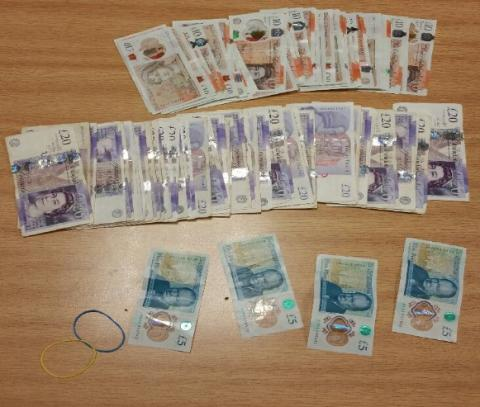 Cash seized from car in Huyton