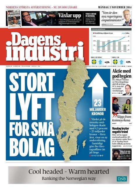 Reportage i Dagens Industri 14-11-03