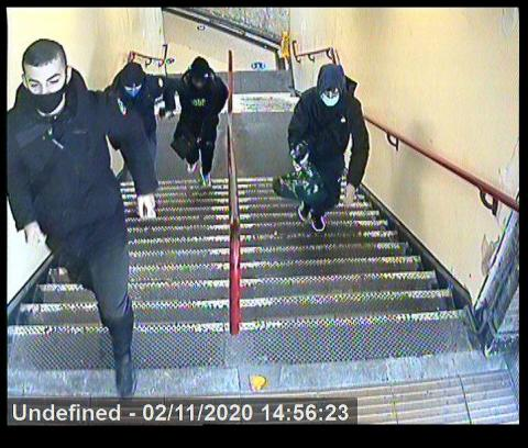 Images of four males released after teenage boy attacked on bus in Upminster