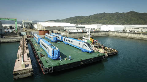 First of Nova 1, bullet train inspired fleet leaves Japan on its way to transform journeys in the North and Scotland