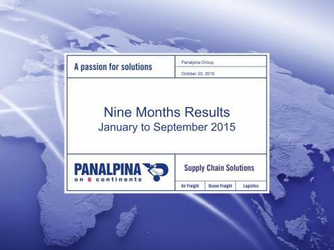 Nine Months Results 2015 – Investor Presentation