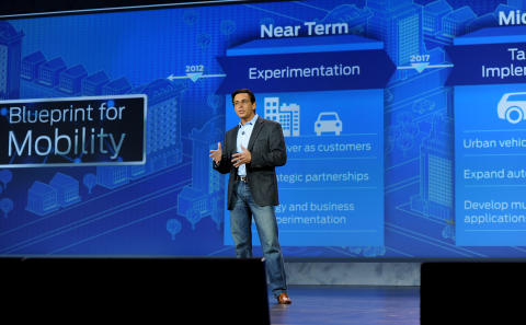 Mark Fields, adm. dir for Ford Motor Company på Consumer Electronics Show i Las Vegas