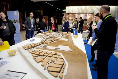 Nuläget i Norra Djurgårdsstaden, Stockholms nya miljöstadsdel, presenterades i en utställning