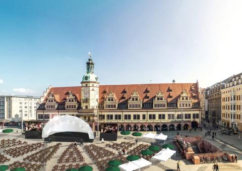 Leipziger Markt Musik - Grafik vom geplanten Aufbau