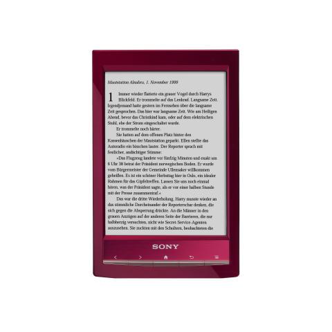 Reader Wi-Fi PRS-T1 von Sony_Rot_ 02