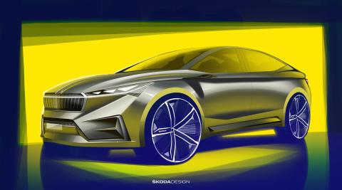 ŠKODA viser skitser af den elektriske fremtid