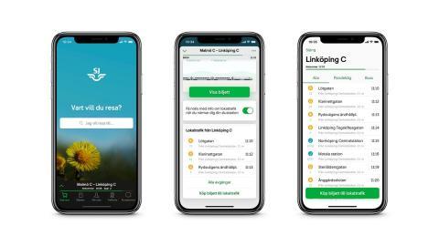 SJs mobilapp nominerad till Svenska Designpriset