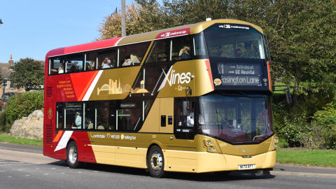 £3million investment into new, clean buses for express route between Easington Lane, Washington and Newcastle