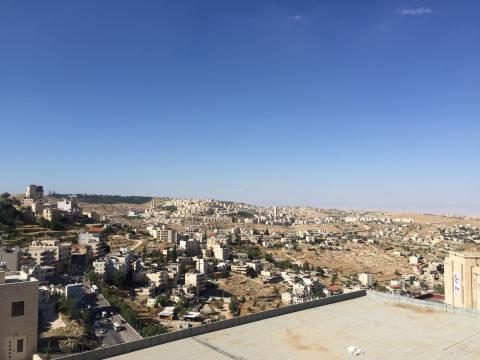 Bethlehem with settlements (Photo credit: Mark Griffiths)