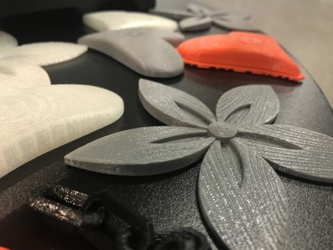 Example of 3D-printed products