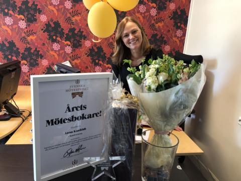 Årets mötesbokare 2019 är Anna Kaufeldt på Hotell Kristina