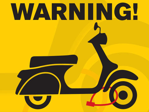 Campaign to help prevent moped and motorbike thefts
