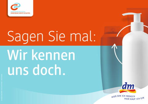Aus Verpackung wird Verpackung: dm startet gemeinsam mit Partnern des Forum Rezyklat Kampagne zur Kreislaufwirtschaft