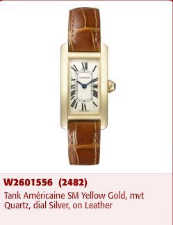 A Tank Americaine Cartier watch stolen