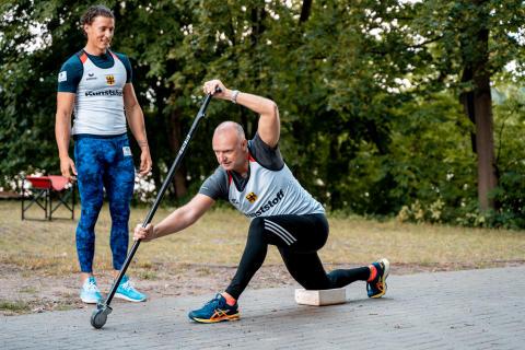 Zurich Sports-Kampagne: Frank Buschmann und Kanute Yul Oeltze