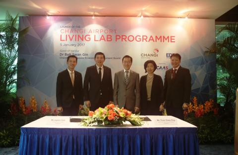 CAG launched the 'Changi Airport Living Lab Programme in partnership with EDB
