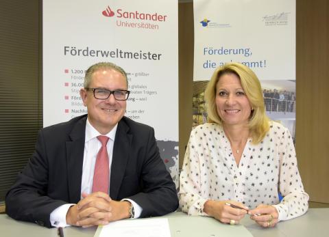 Zentrale Förderung: Santander unterstützt die Heinrich-Heine-Universität
