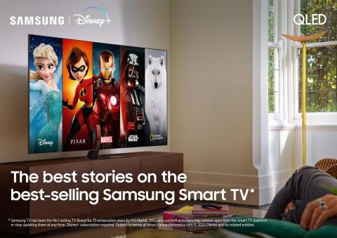 Disney+ kommer till Samsungs Smart TVs i Norden