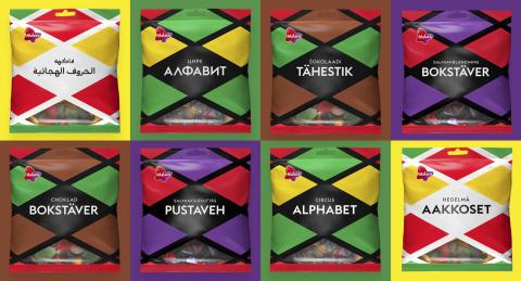 Aakkoset-klassikkokarkki tuo pusseihin uusia kieliä – brändi nousee uuteen aikaan