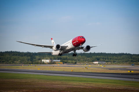 Norwegian med en passagerartillväxt på 16 procent i april