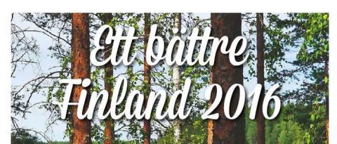 Ett bättre Finland 2016: olika prioriteringar i olika delar av landet
