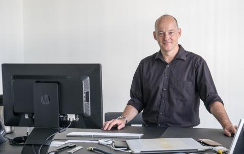 Panalpina's CIO Ralf Morawietz in his office