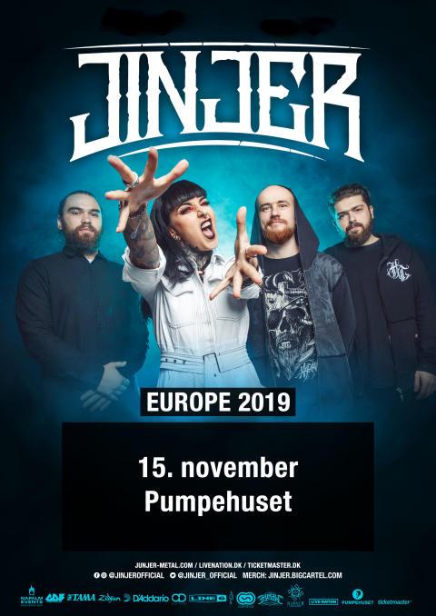Det ukrainske progressive groove metal-band, Jinjer, kommer til Pumpehuset