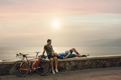 Pause fra cyklingen