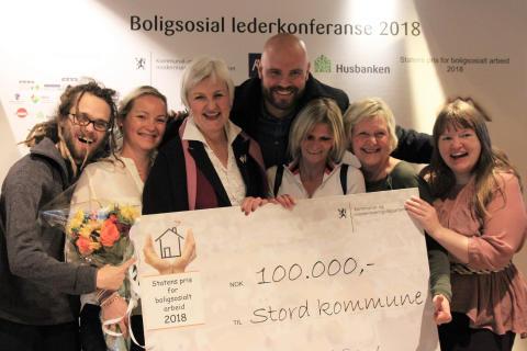 Stord kommune vinner Statens pris for boligsosialt arbeid 2018