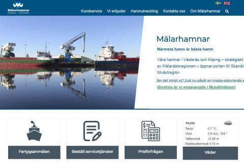 Ny webb stödjer fortsatt verksamhets- och hamnutveckling