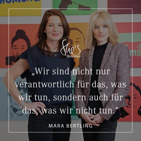 Interview bei she's Mercedes mit DEIN MÜNCHEN Gründerin Mara Bertling