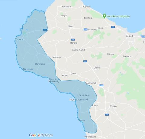 NSVA uppmanar boende i Torekov och längs kusten ned till Stora Hult att spara på dricksvattnet