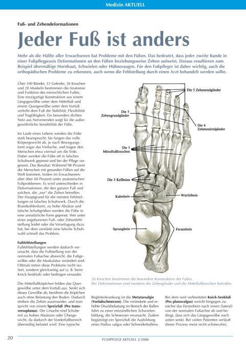 Fuß- und Zehendeformationen: Jeder Fuß ist anders