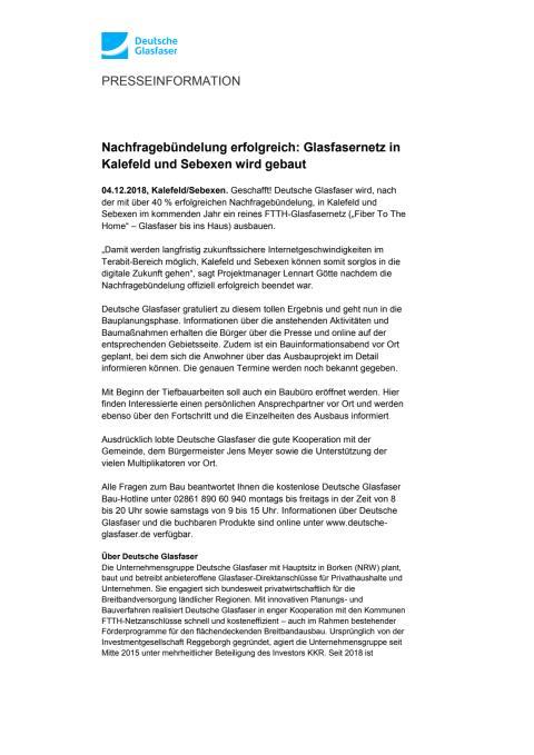 Nachfragebündelung erfolgreich: Glasfasernetz in Kalefeld und Sebexen wird gebaut