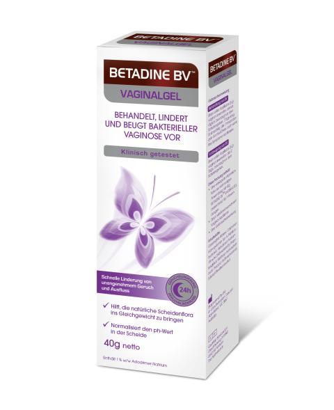 Packungsabbildung BETADINE™ BV Vaginalgel-Faltschachtel