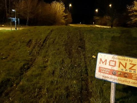Ban for Christmas drink-driver who drove over roundabout