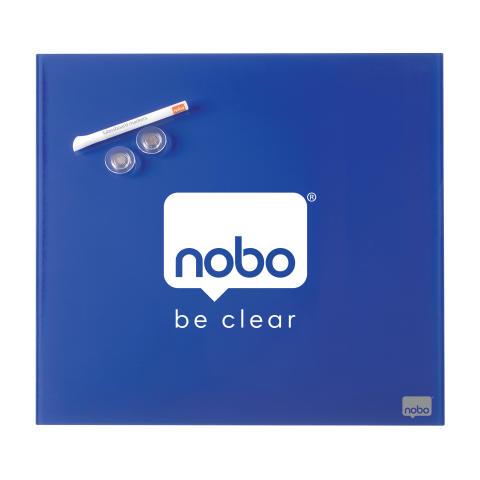 Blå Nobo glasstavle