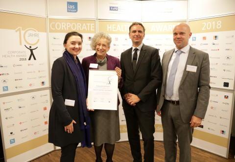 Auszeichnung für Betriebliches Gesundheitsmanagement
