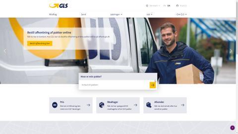 GLS lancerer ny,  responsiv hjemmeside