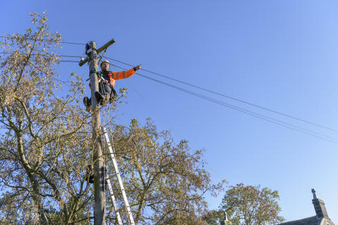 Rural engineer up pole (1)