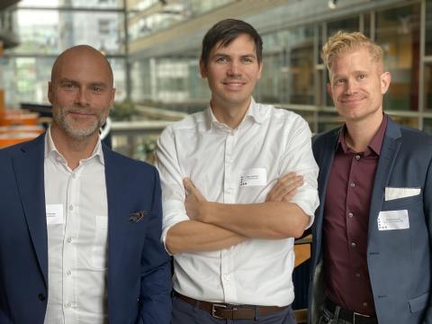 Från vänster: Andreas Claesson, Mats Sällström, Mattias Regnell