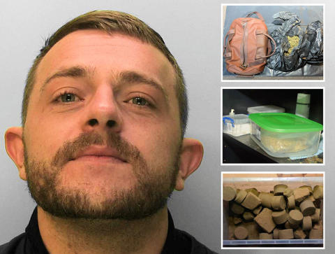 Man who stamped his name into drugs is jailed