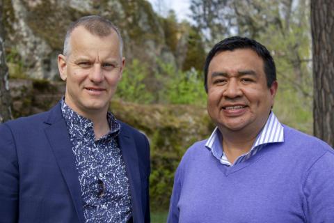 Martin Hallbeck och Juan Reyes, Linköpings universitet