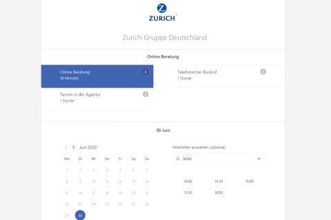 Screenshot Microsoft Bookings