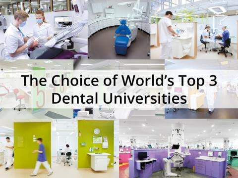 The choice of world's top 3 dental universities
