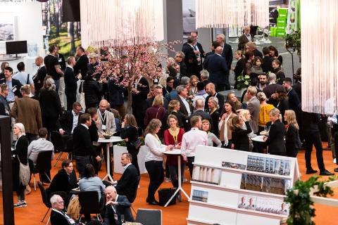 Fokus på nätverkande när arkitektur och fastighetsbranschen samlades på Svenska Mässan