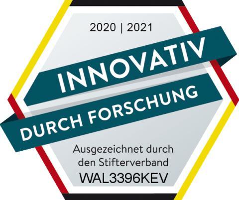 """Gütesiegel: WALTHER ist """"innovativ durch Forschung"""""""